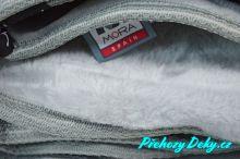 luxusní deka mikroplyš, přehoz na postel 220 x 240 MORA