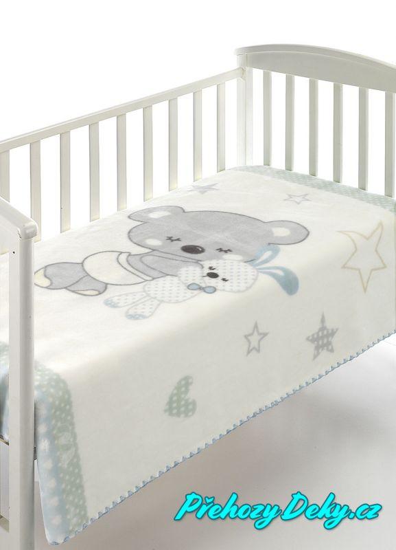 luxusní zimní španělská dětská deka pro miminka do kočárku MORA