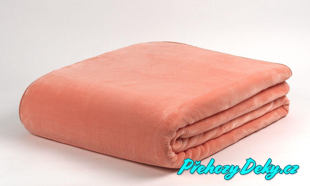 televizní deka mikroplyš, přehoz na postel MORA