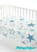 Španělská deka do kočárku MORA® Color modrá 110x140cm