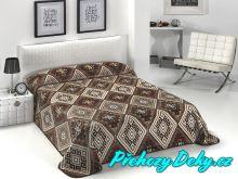 Luxusní španělská deka MORA® Color Printed hnědá 220x240 cm