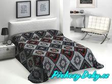 Doprodej Luxusní španělská deka MORA® Color Printed černá 220x240 cm
