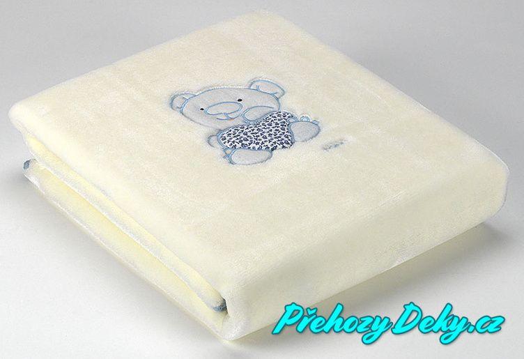Dětská deka do kočárku MORA® Petits modrá 80x110cm