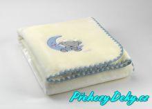 Svítící španělská deka MORA® Baby Luz modrá 110x140cm