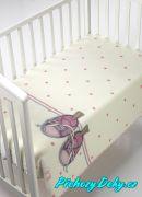 Dětská deka pro miminka MORA® KIDZ botičky růžová 80x110cm