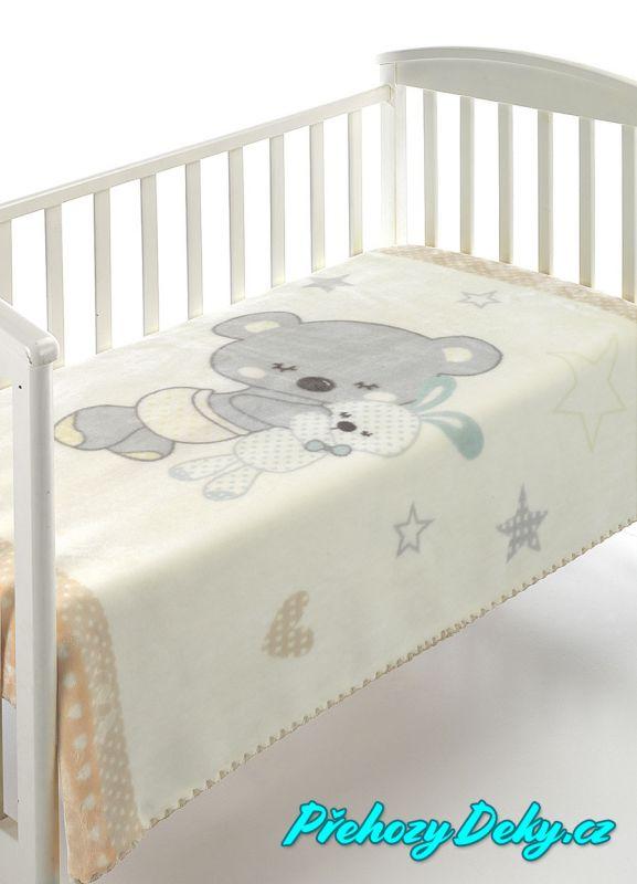 MORA luxusní zimní španělská dětská deka pro miminka do kočárku