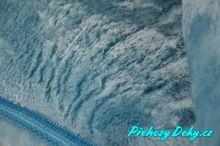 Luxusní španělská deka MORA® Alaska modrá 220x240 cm