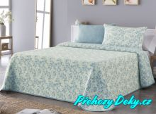 Oboustranný přehoz na postel Sofia 250x270 cm modrý