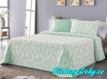 Oboustranný přehoz na postel Sofia 250x270 cm zelený