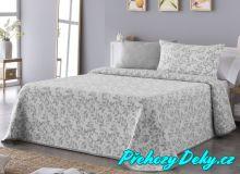 Oboustranný přehoz na postel Sofia 250x270 cm šedý