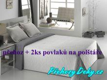 Oboustranný přehoz na postele ALMA 250x270 cm šedo-bílý