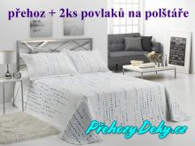 Oboustranný přehoz na postele IRATI 250x270 cm modro-zelená