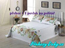 Oboustranný přehoz na postele MIA 180x270 cm šedo-béžová