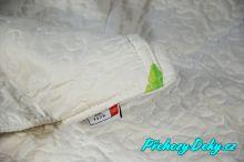 kvalitní španělský přehoz na jednolůžkovou postel s 1 povlakem na polštář MORA