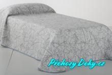 Oboustranný přehoz na postel Sofia 250x270 cm béžový