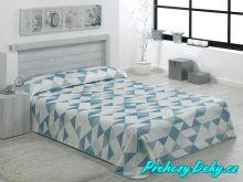 Luxusní španělská deka MORA® Color Printed aqua 220x240 cm