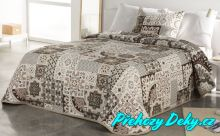 Originální přehoz na postel Sofia 250x270 cm béžový