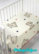 Španělská zimní deka do kočárku MORA® KIDZ medvídek červená 80x110cm