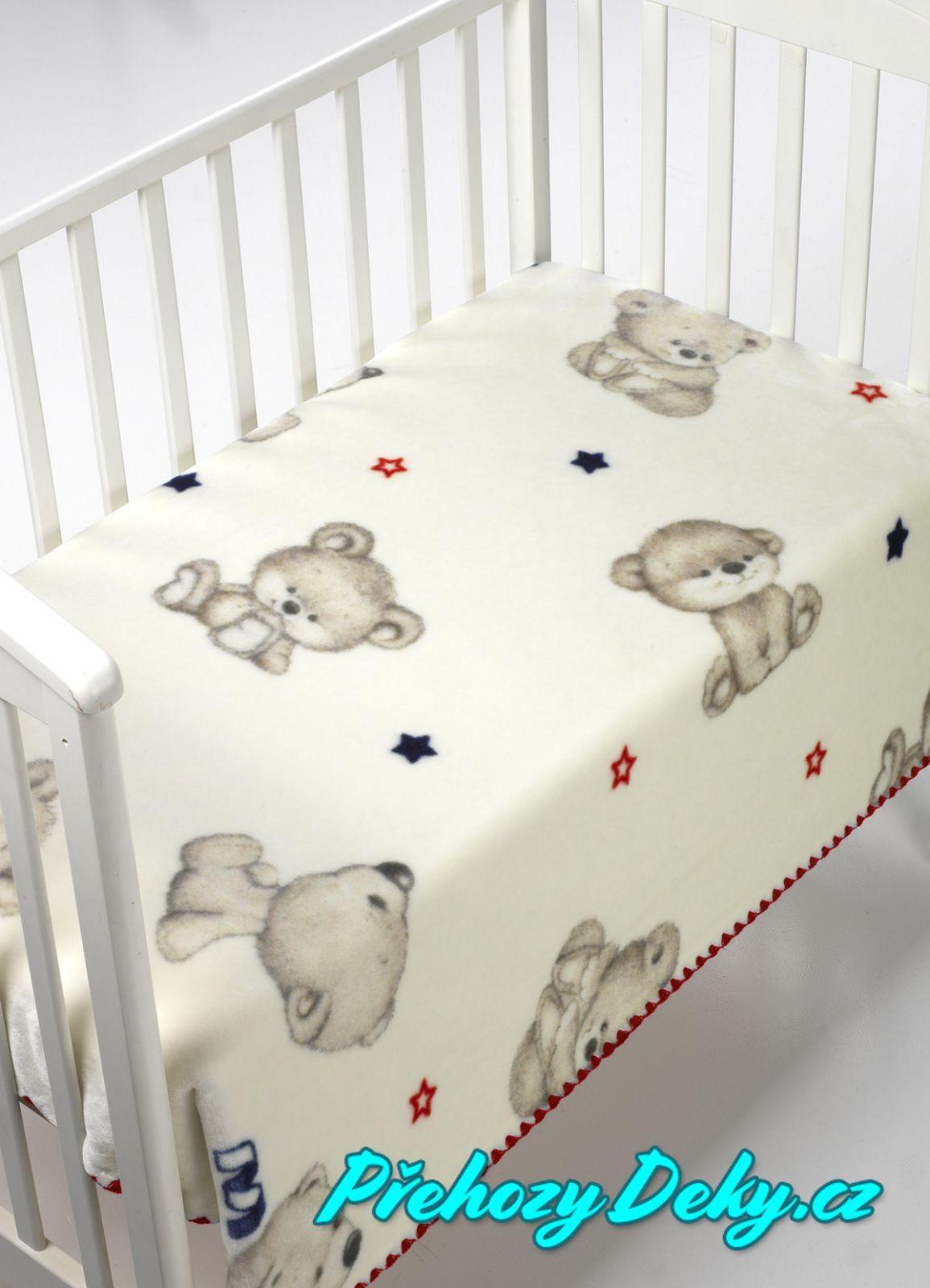MORA luxusní zimní španělská deka pro miminka do kočárku