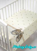 Dětská deka pro miminka MORA® KIDZ botičky béžová 80x110cm