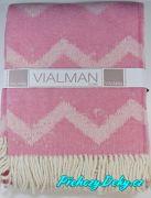 Pletený pléd na sedačku Nepál 150x200 cm růžový