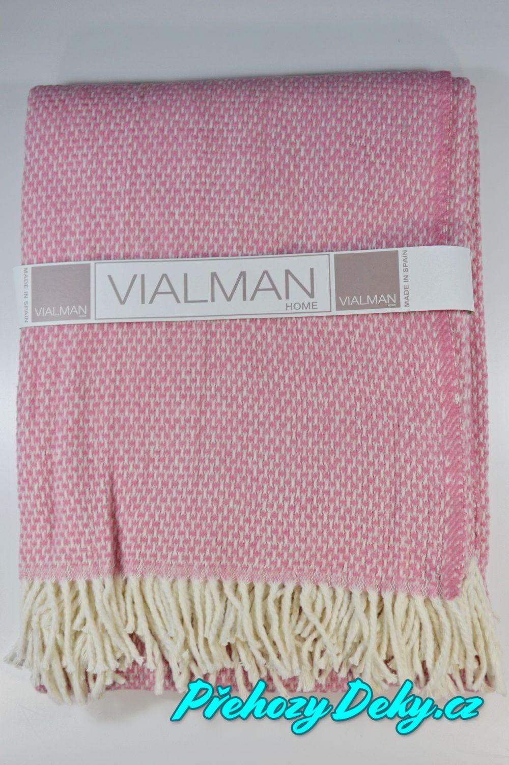 pletený pléd s třásněmi, plédy na postel, společenské plédy Vialman
