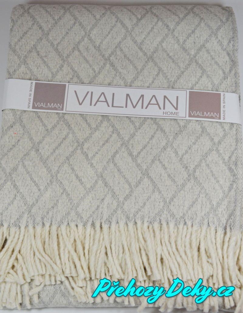 Vialman společenský pléd, pléd jako přehoz na křeslo, postel