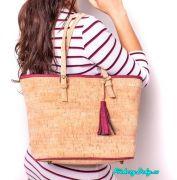 dámská korková kabelka přes rameno