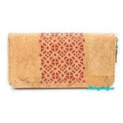 Červená korková peněženka
