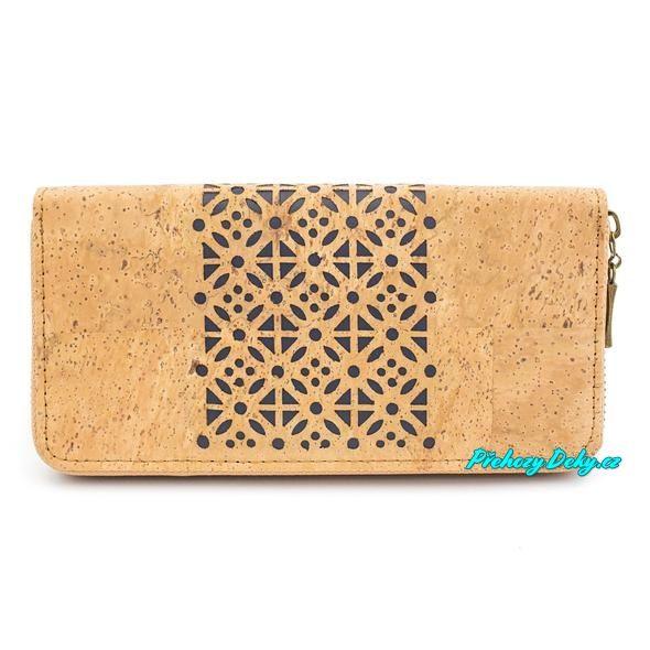 dámská korková peněženka na zip
