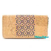 Modrá korková peněženka