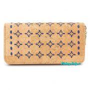 Dámská korková peněženka velká modrá