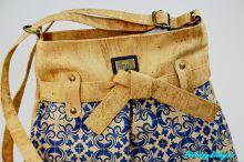 Dámská modrá korková kabelka přes rameno Montado® modrá