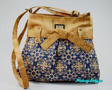 Korková dámská kabelka crossbody Montado® s mašlí