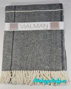 Pletený pléd na sedačku Nepál 150x200 cm šedý