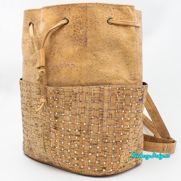 korková kabelka batoh 2v1
