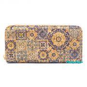 Dámská velká korková peněženka na zip