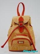 Korkový moderní dívčí batoh Montado® červený