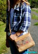 levná dívčí korková kabelka crossbody Montado®