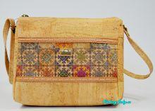 Dívčí korková kabelka přes rameno Montado® světlá