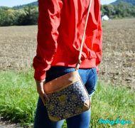 levná modrá dámská korková kabelka přes rameno Montado®