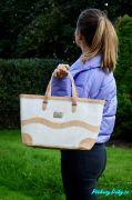 Luxusní bílá korková kabelka Montado® do ruky nebo přes rameno