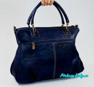 Luxusní korková kabelka do ruky Montado® modrá