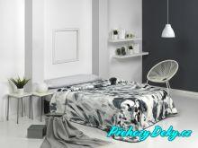 Luxusní španělská deka MORA® Harmony šedá 220x240 cm