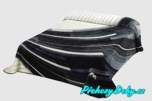 Luxusní španělská deka MORA® Harmony šedá 170x240 cm