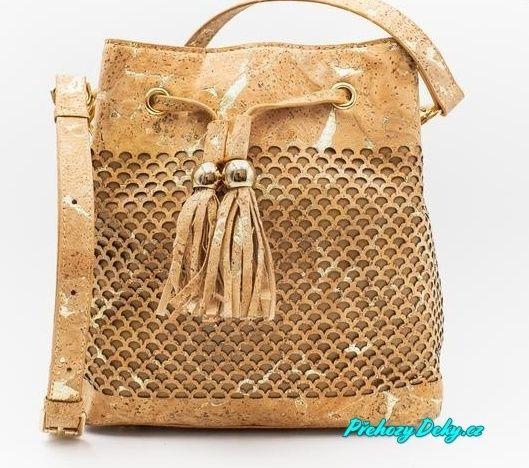 luxusní společenská korková kabelka