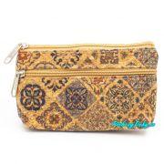 Malá korková peněženka s portugalským vzorem