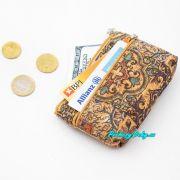 malá korková peněženka na drobné mince