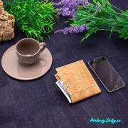 pánská korková peněženka - slim peněženka