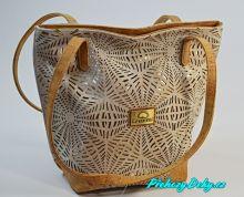 Bílá korková dámská kabelka přes rameno Montado®